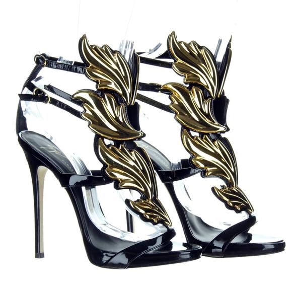 2102d6079cdc9 Giuseppe Zanotti Shoes - Giuseppe Zannotti Cruel Summer Gold Sandals Heels